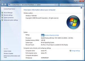 Windows 64 Bit Operating System