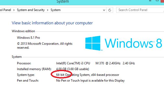 Apa Perbedaan Atara 32 Bit Dengan 64 Bit Yang Ada Pada Windows