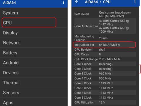Metode Untuk Mengenali Berapa Bit( 64Bit 32Bit) Prosesor HP Kita dengan Aplikasi